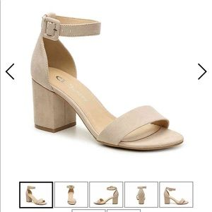 Nude block heels - brand new without tags